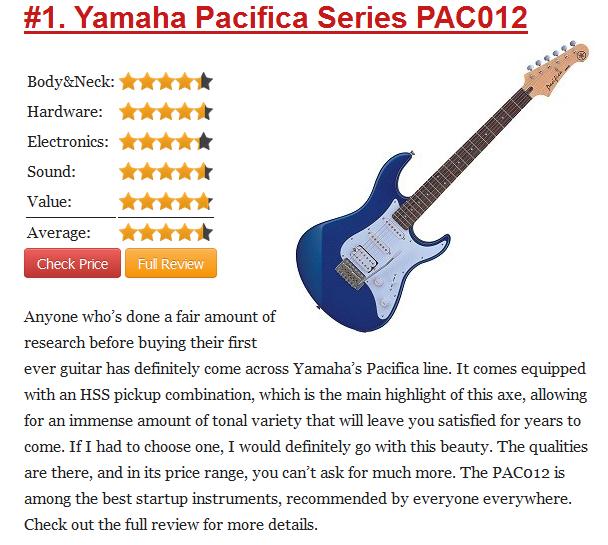 đánh giá đàn Electric Guitar PACIFICA012