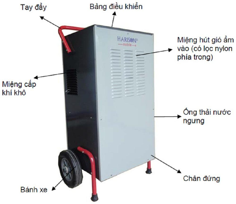Máy hút ẩm Harison di động HD-100BM (100L/D)