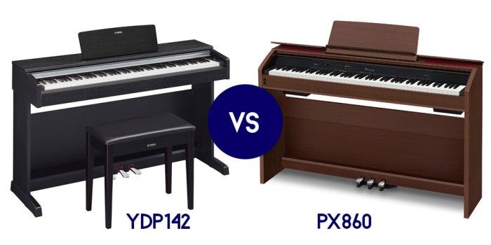 so sanh PIANO ĐIỆN YAMAHA YDP 142 & CASIO PX 860: