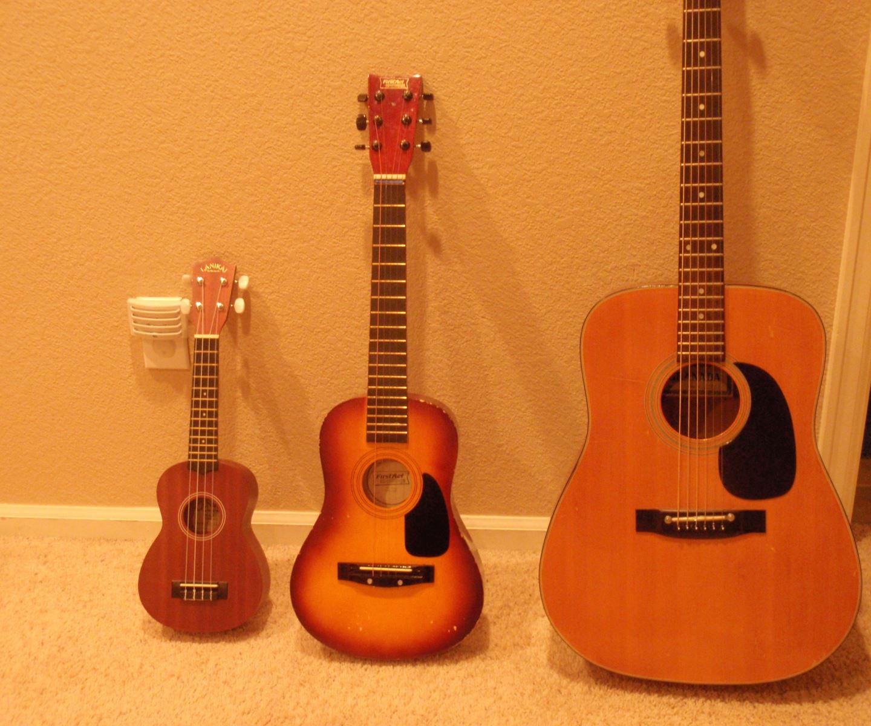 hoc ukulele va guitar cai nao de hon